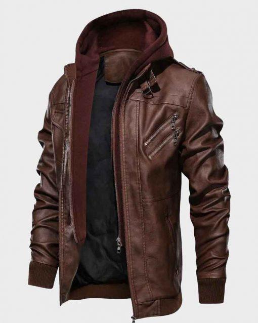 Dark-Brown-Leather-Jacket-With-Hood-510x638