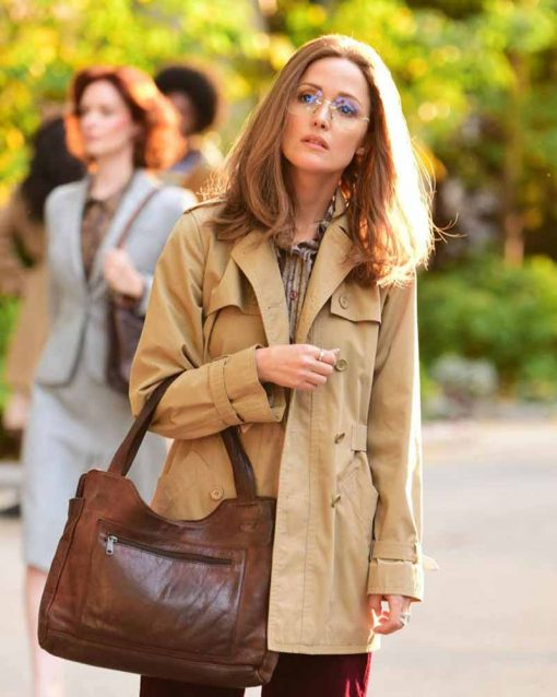 Rose Byrne Camel Brown Gloria Steinem Mrs. America Coat