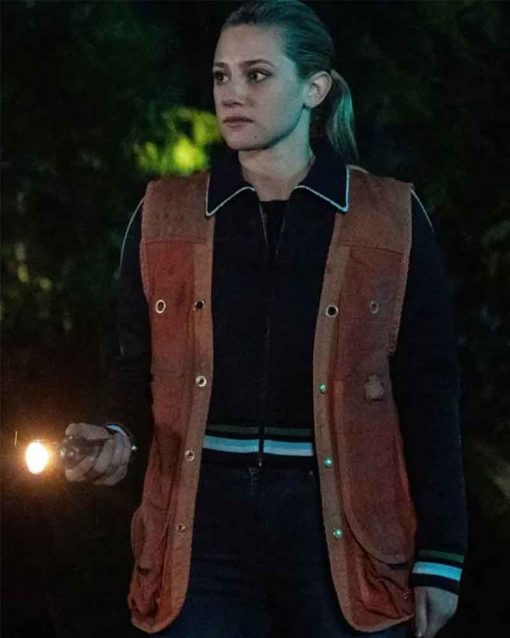 Riverdale Lili Reinhart Leather Teen Alice Smith Betty Cooper Vest
