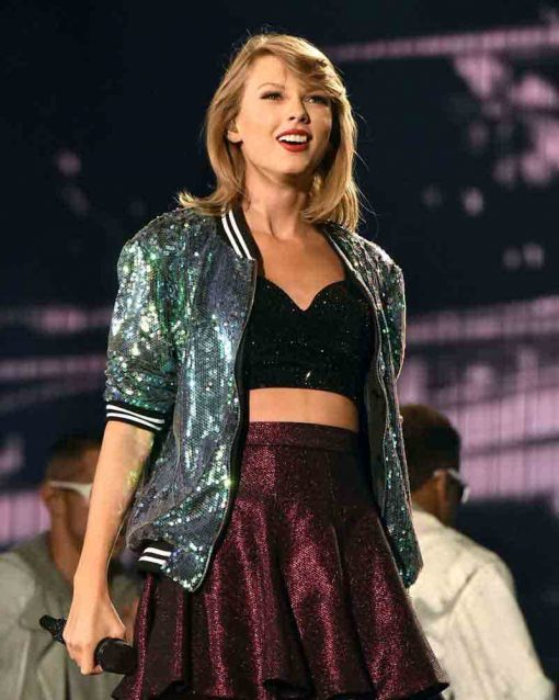 Taylor Swift Sequin Green Jacket