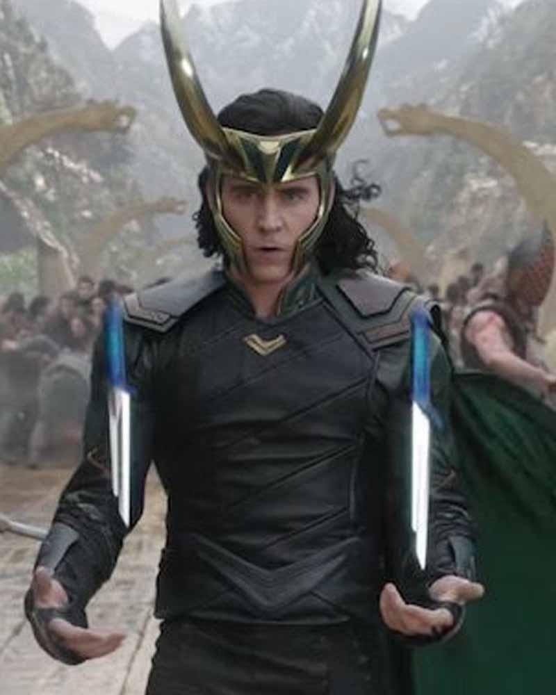 Tom Hiddleston Thor Ragnarok Loki Leather Jacket
