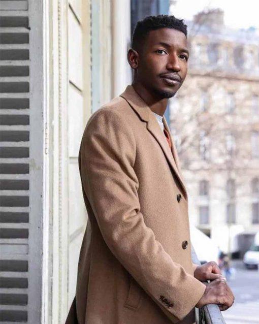 Mamoudou Athie Beige Uncorked Elijah Trench Coat