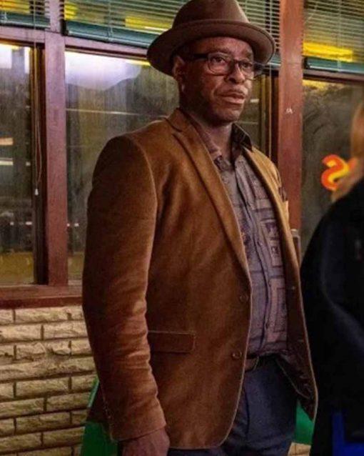 Courtney B. Vance Brown Cotton Uncorked Louis Blazer