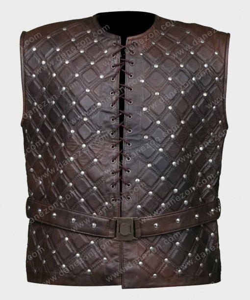 Vikings S03Ep08 Bjorn Lothbrok Brown Leather Vest