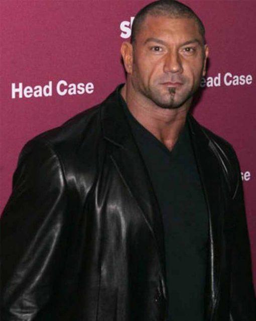 Black Leather WWE Dave Bautista Blazer