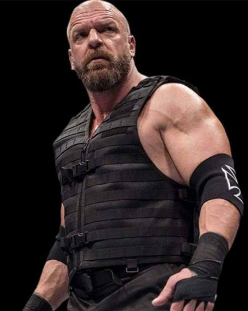 WWE The Shield Triple H Leather Vest