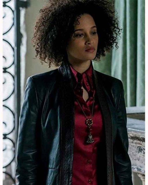 A Discovery of Witches Elarica Johnson Juliette Durand Leather Coat