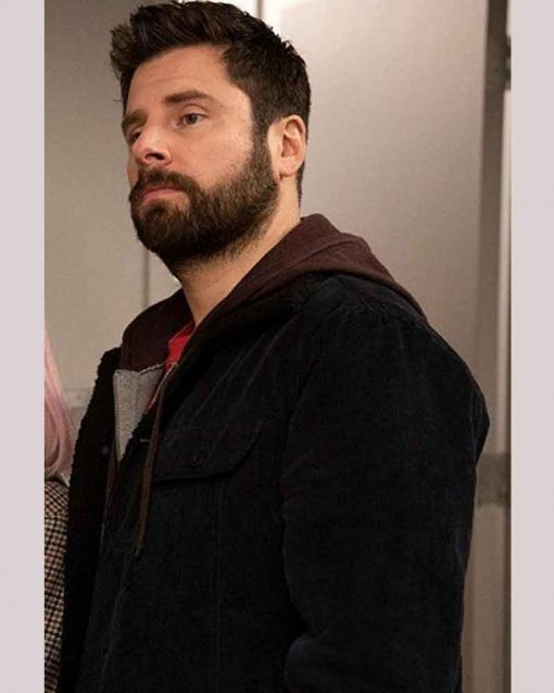 A Million Little Things James Roday Leather Gary Mendez Black Jacket