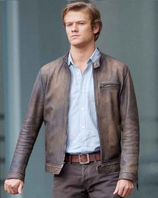 Lucas Till Angus MacGyver Distressed Leather Jacket