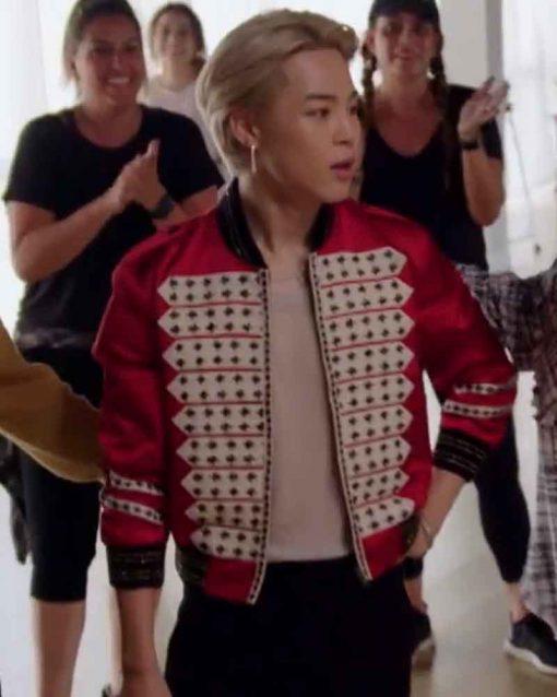 South Korean Rapper Bomber BTS J.Hope Red Jacket