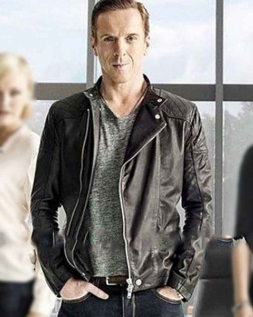 Billions Damian Lewis Black Bobby Axelrod Leather Jacket