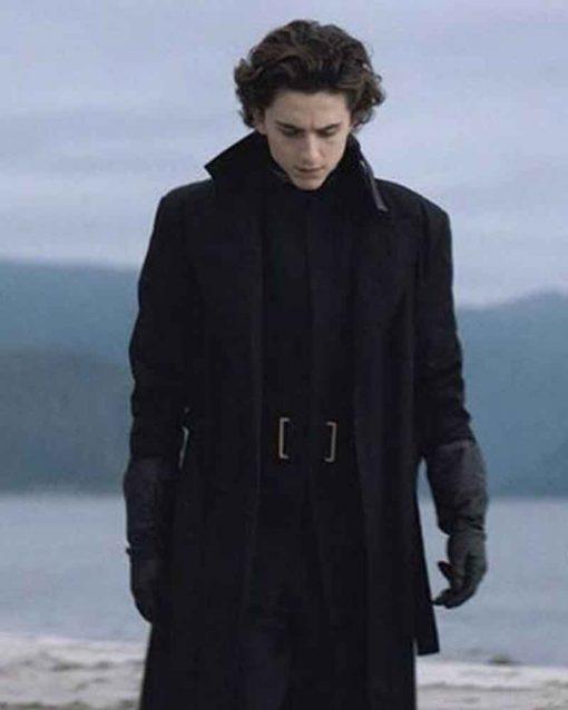 Dune Timothée Chalamet Black Paul Atreides Coat