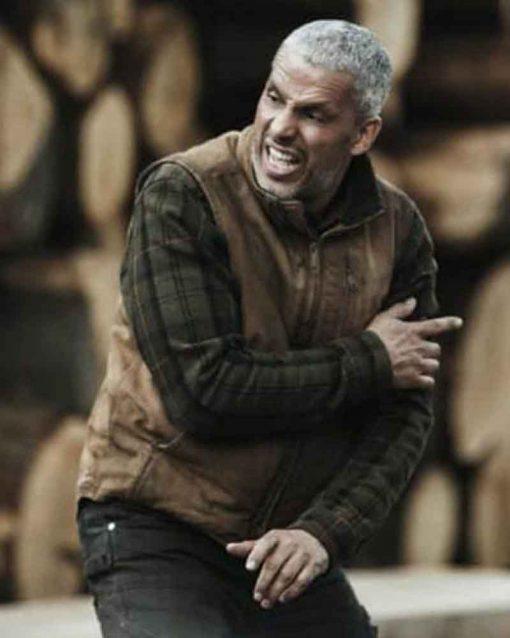 Sami Bouajila Earth and Blood Brown Leather Saïd Vest