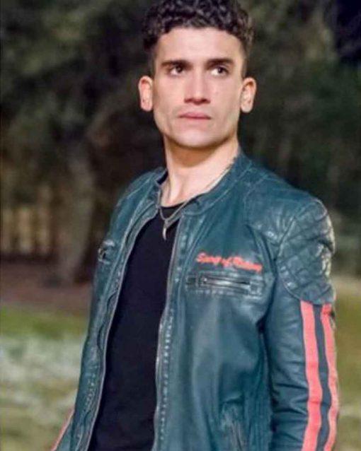 Jaime Lorente Biker TV Series Elite Nano Leather Jacket