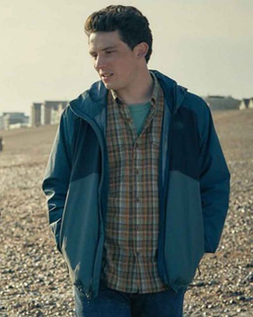 Josh O'Connor Blue Cotton Hope Gap Jamie Jacket