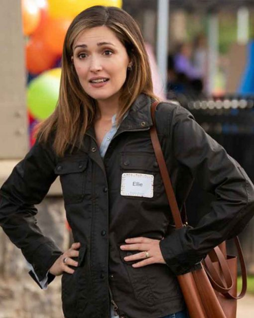 Rose Byrne Instant Family Brown Cotton Ellie Jacket