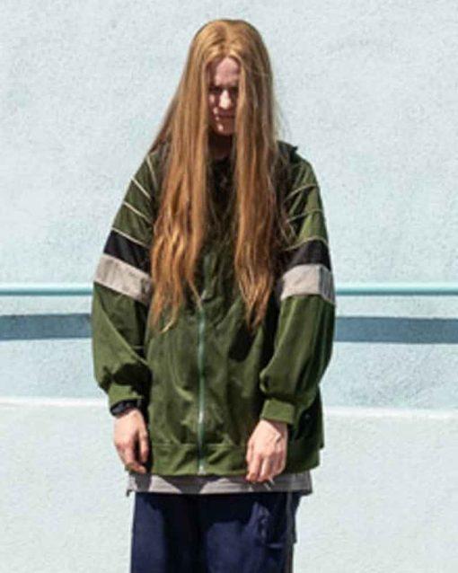 Evan Rachel Wood Olive Green Kajillionaire Bomber Old Dolio Jacket