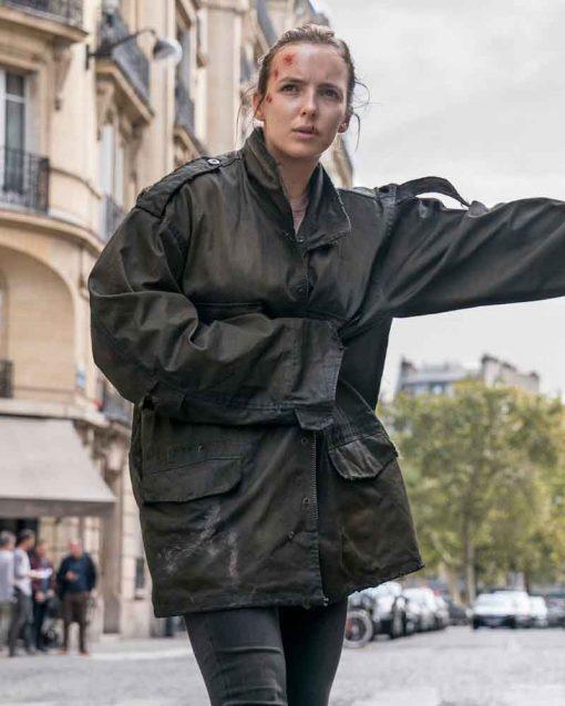 Killing Eve Jodie Comer Cotton Villanelle Black Jacket