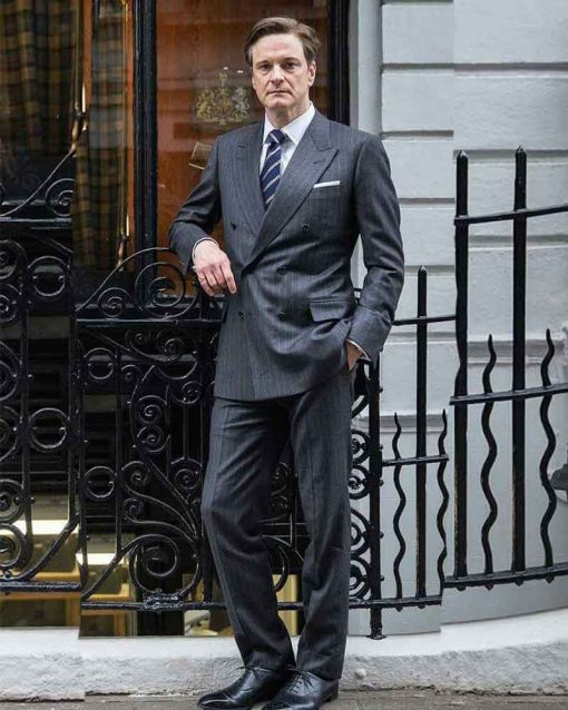 Kingsman The Secret Service Colin Firth Grey Harry Hart Suit