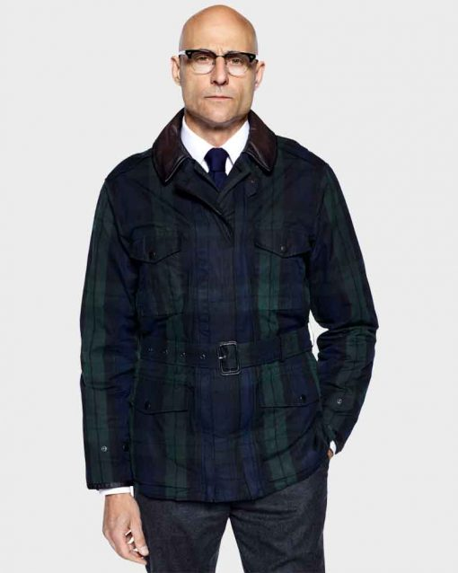 Mark Strong Cotton Kingsman The Golden Circle Merlin Jacket