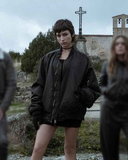 Money Heist Black Cotton Úrsula Corberó Tokio Bomber Jacket