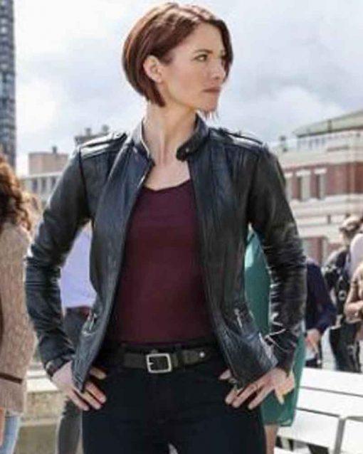 Supergirl Chyler Leigh Leather Alex Danvers Jacket