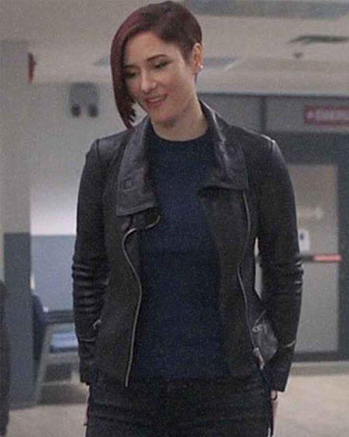 Supergirl Chyler Leigh Black Alex Danvers Leather Jacket