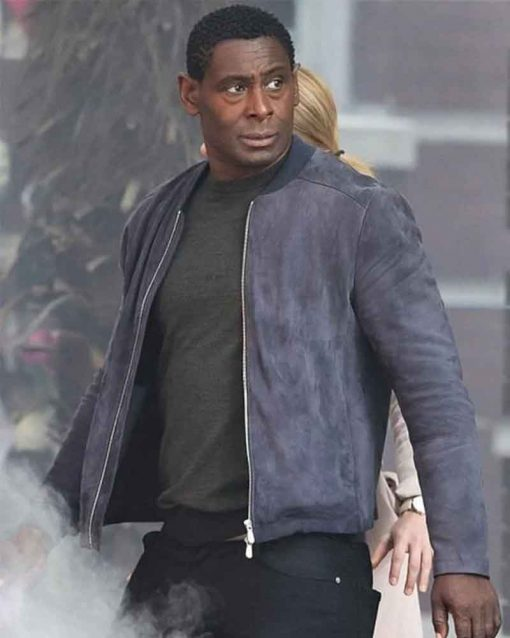Supergirl David Harewood Suede Leather J'onn J'onzz Bomber Jacket
