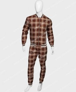 Tartan Brown Jogging Tracksuit