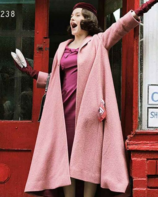 The Marvelous Mrs Maisel Rachel Brosnahan Miriam Maisel Pink Coat
