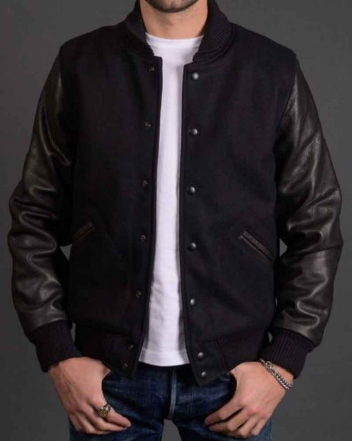 Michael Block Black Bomber Jacket