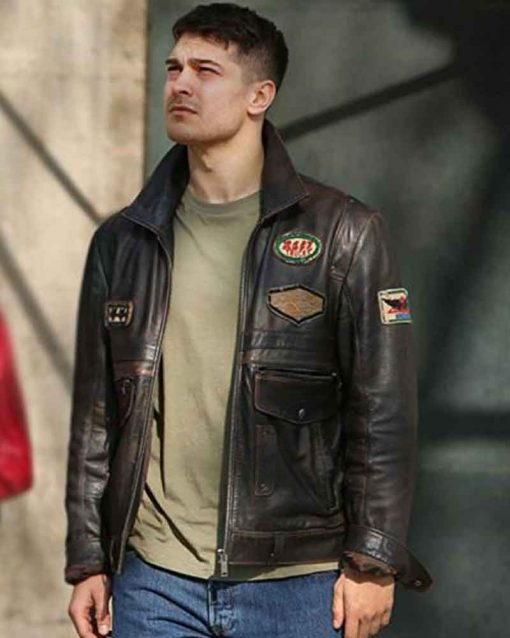 Hakan Demir Distressed Leather Jacket