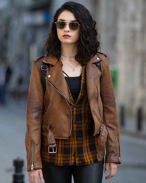 Zeynep Erman Brown Leather Jacket