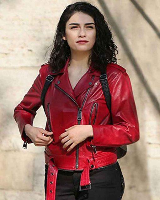Zeynep Erman Red Jacket