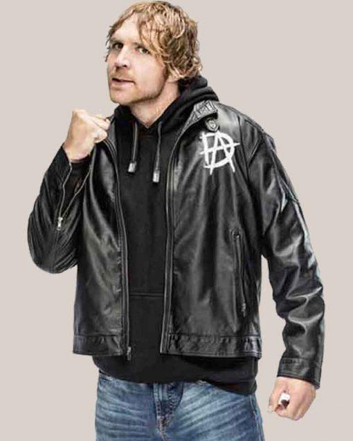 WWE Wrestler Black Leather Dean Ambrose Jacket