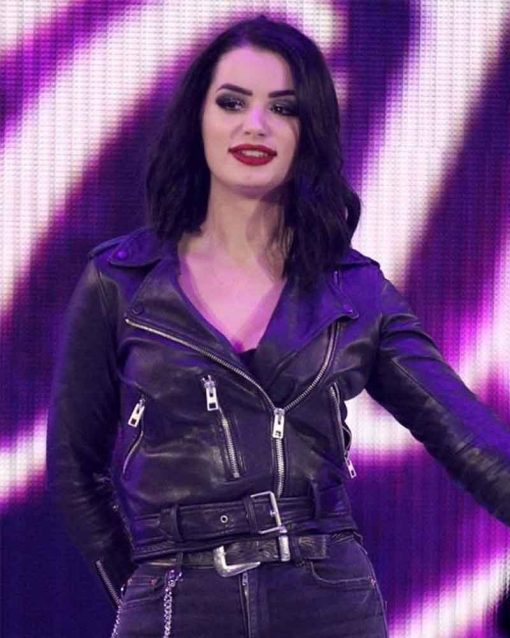 WWE SmackDown Motorcycle Paige Leather Jacket