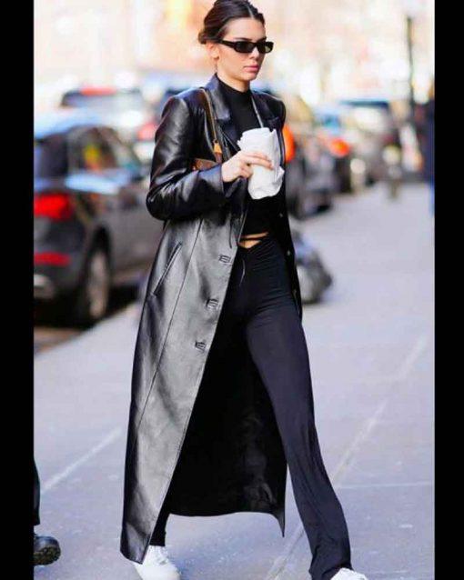 Kendall Jenner Black Long Coat