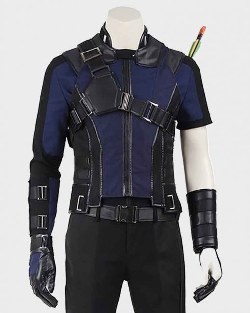 Clint Barton Jeremy Renner Cotton Captain America Civil War Hawkeye Jacket