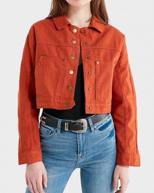 Little Fires Everywhere Lexi Underwood Orange Pearl Warren Jacket