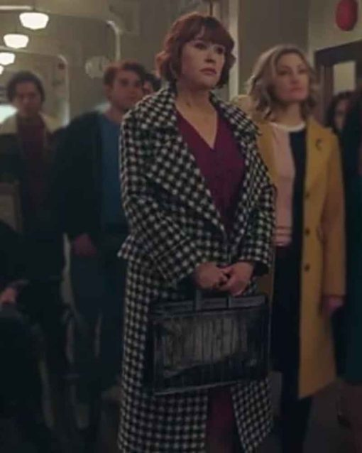 Rivadale Molly Ringwald Black and White Mary Andrews Coat