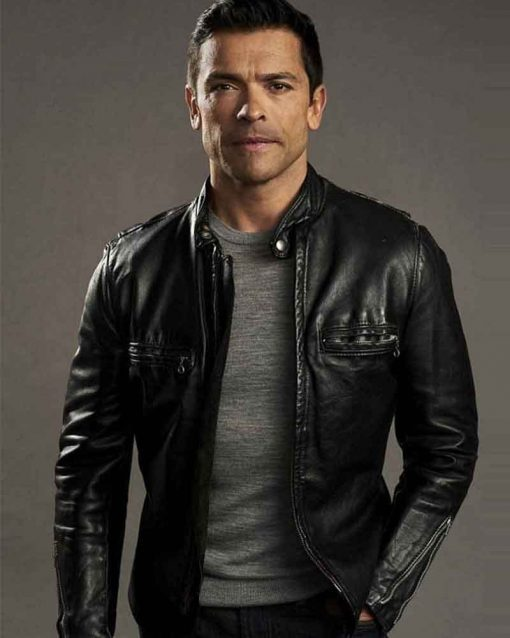 Riverdale S02 Mark Consuelos Leather Hiram Lodge Jacket