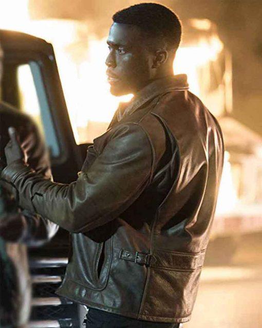 Y'lan Noel Brown Leather The First Purge Dmitri Jacket