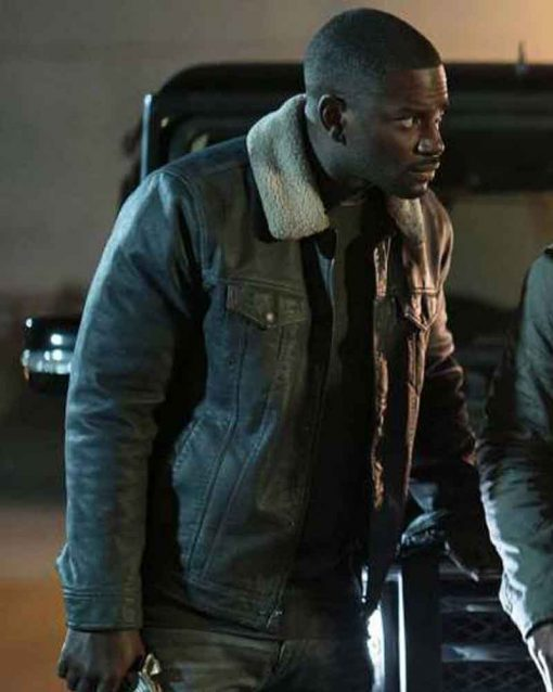 The First Purge Black Leather Mo McRae Jacket