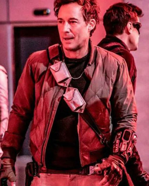 The Flash Tom Cavanagh Quilted Nash Wells Jacket