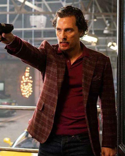The Gentlemen Matthew McConaughey Mickey Pearson Checkered Blazer