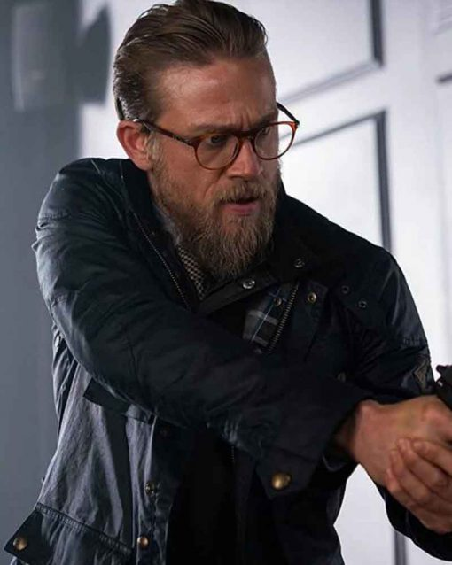 Charlie Hunnam Black Cotton The Gentlemen Ray Jacket