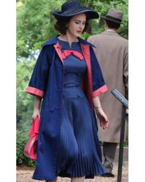 The Marvelous Mrs Maisel Rachel Brosnahan Miriam Maisel Blue Coat