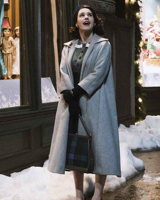 The Marvelous Mrs Maisel Rachel Brosnahan Miriam Maisel Grey Coat