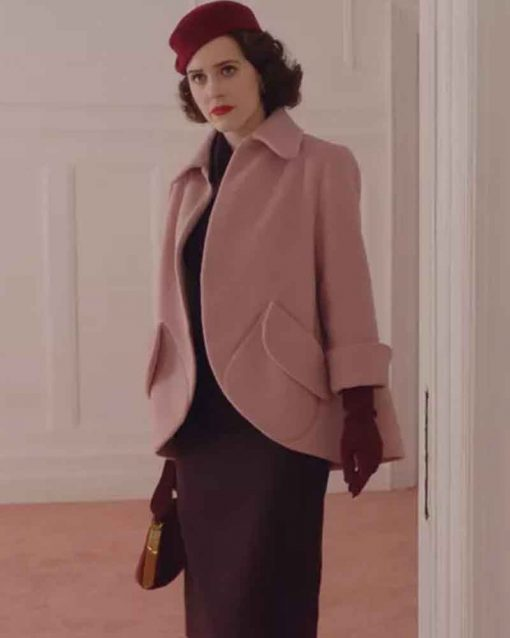The Marvelous Mrs. Maisel Rachel Brosnahan Pink Miriam Maisel Jacket