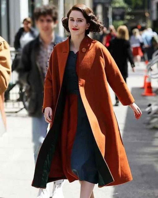 The Marvelous Mrs. Maisel Rachel Brosnahan Miriam Maisel Orange Coat